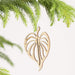 Wood Heart Leaf Ornament - Urban Sprouts