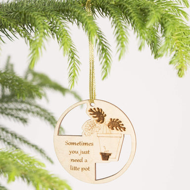 Wood 'Little Pot' Ornament - Urban Sprouts