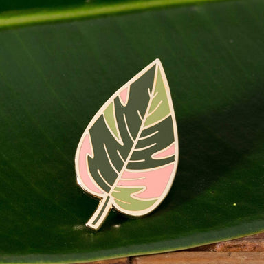 Pink Princess Leaf Enamel Pin - Urban Sprouts