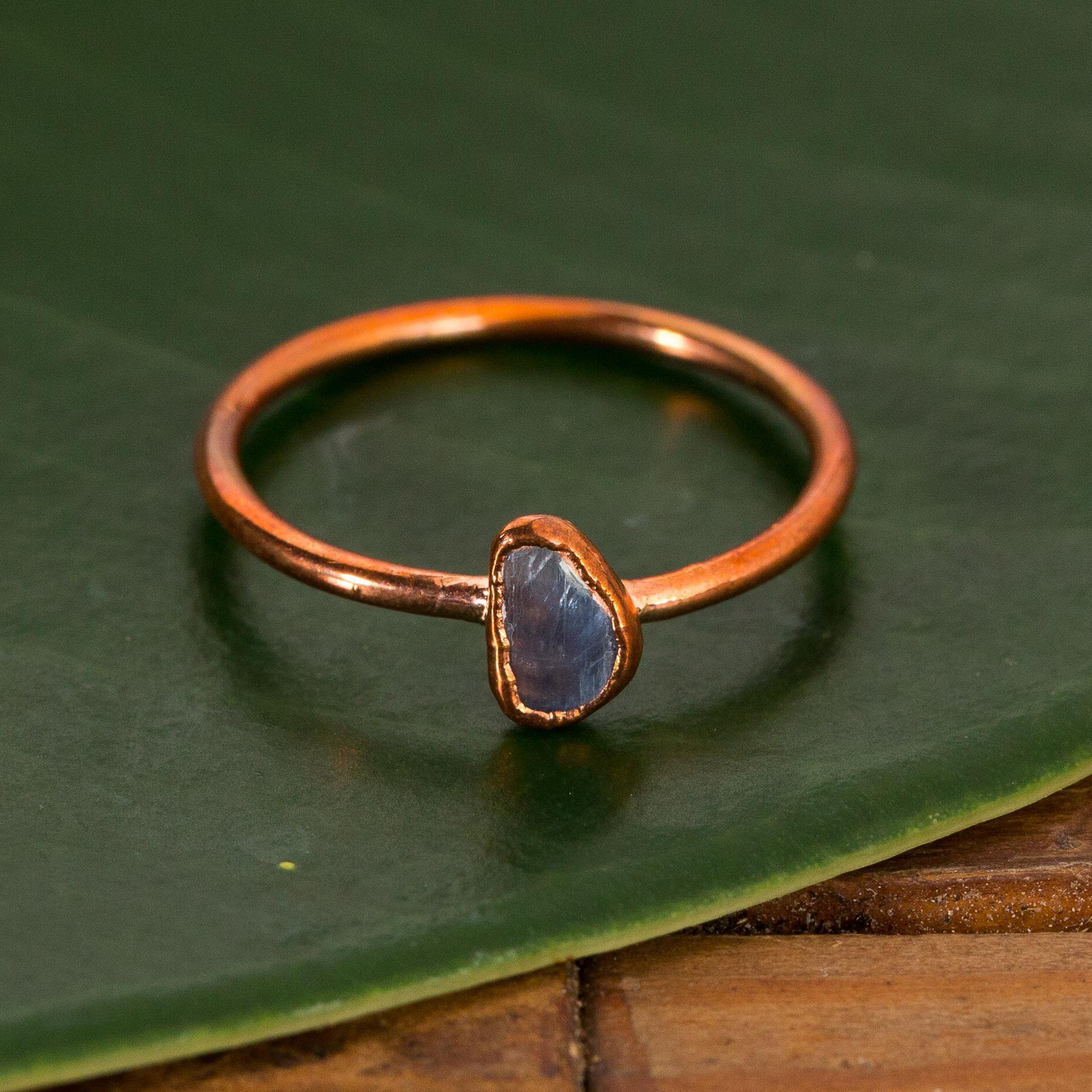 Kyanite Stacking Copper Ring - Urban Sprouts