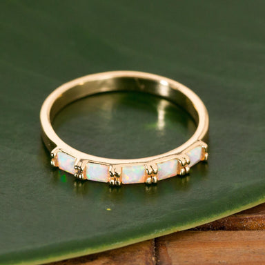 Opal Bar Stacking Ring - Urban Sprouts