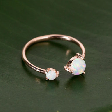 Rose Gold Opal Twist Ring - Urban Sprouts
