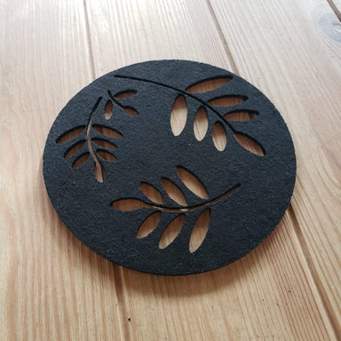 Circling Leaves Felt Trivet - Urban Sprouts