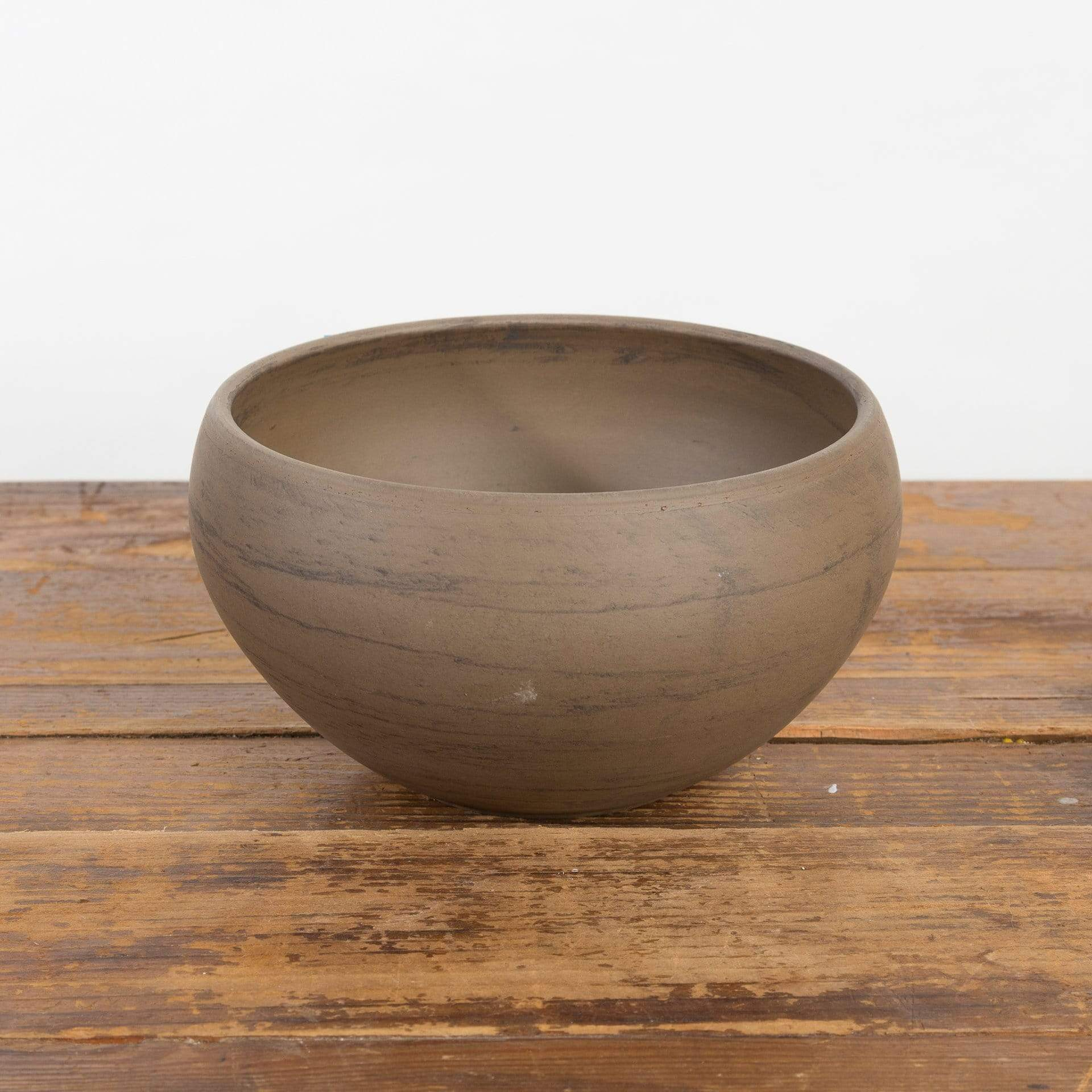 Marbled Black Clay Bowl Planter - Urban Sprouts