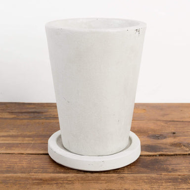 Cement Flared Pedestal Planter - Urban Sprouts