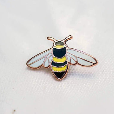 Honeybee Enamel Pin For Charity - Urban Sprouts