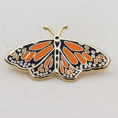 Monarch Butterfly Enamel Pin For Charity - Urban Sprouts