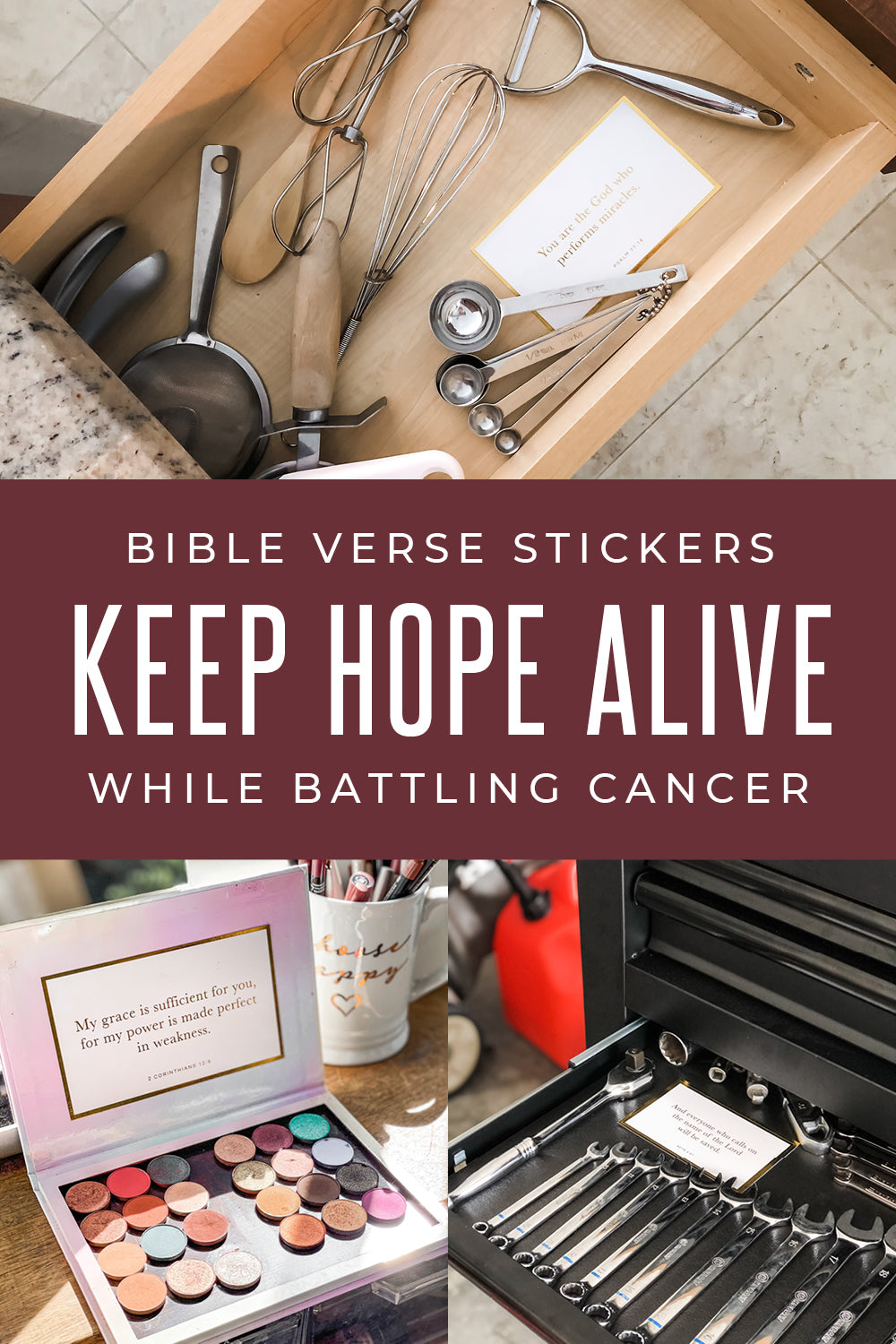 bible verse stickers keep hope alive while battling cancer