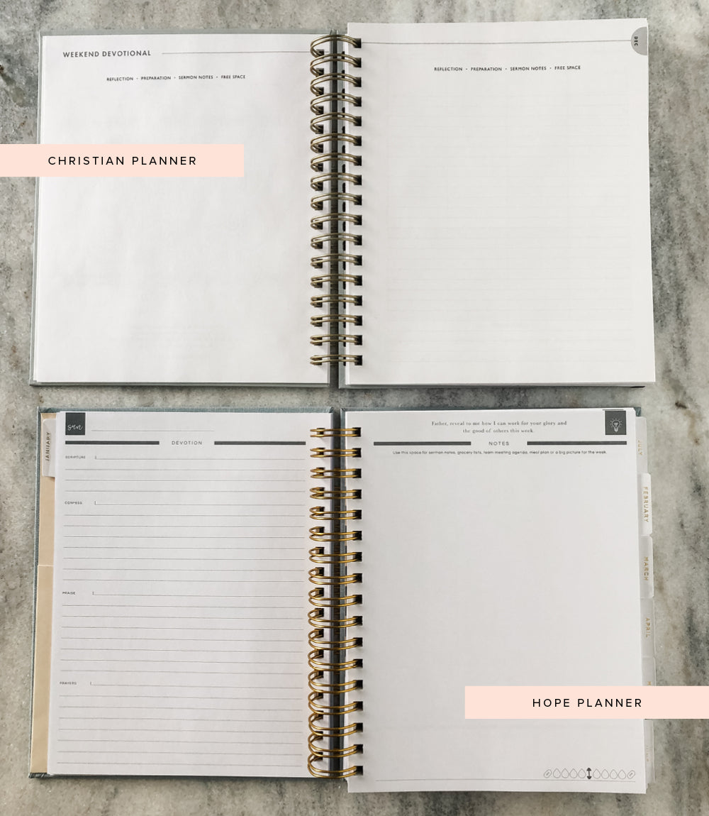 christian planner versus hope planner sermon notes sunday page