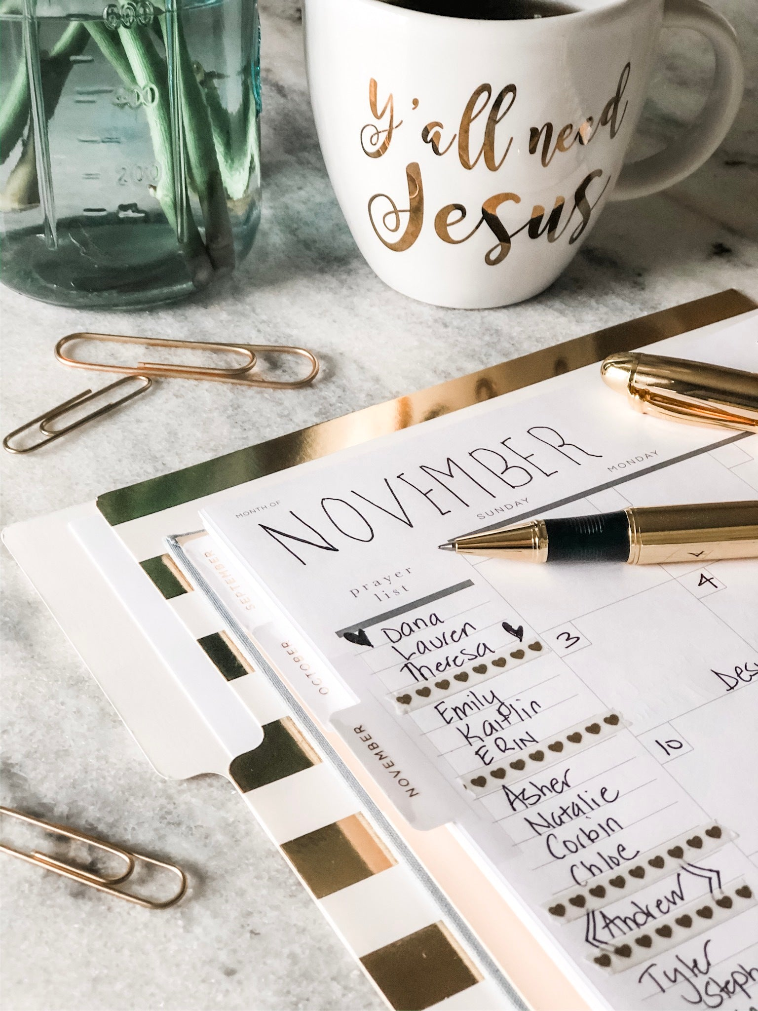 important features of a Christian planner
