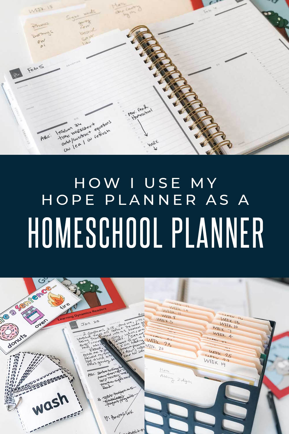 how i use my hope planner as a homeschool planner