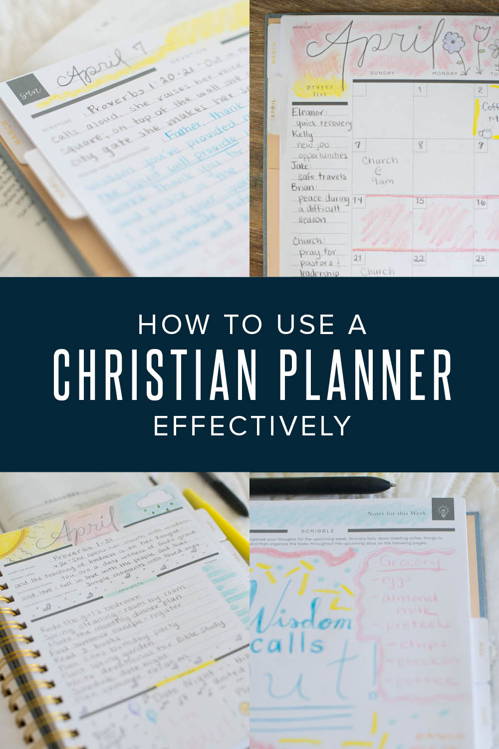 tips on how to use a Christian planner effectively