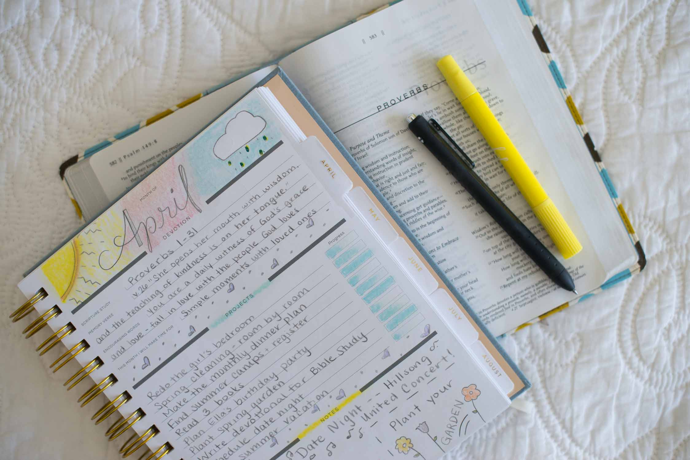how to use a Christian planner