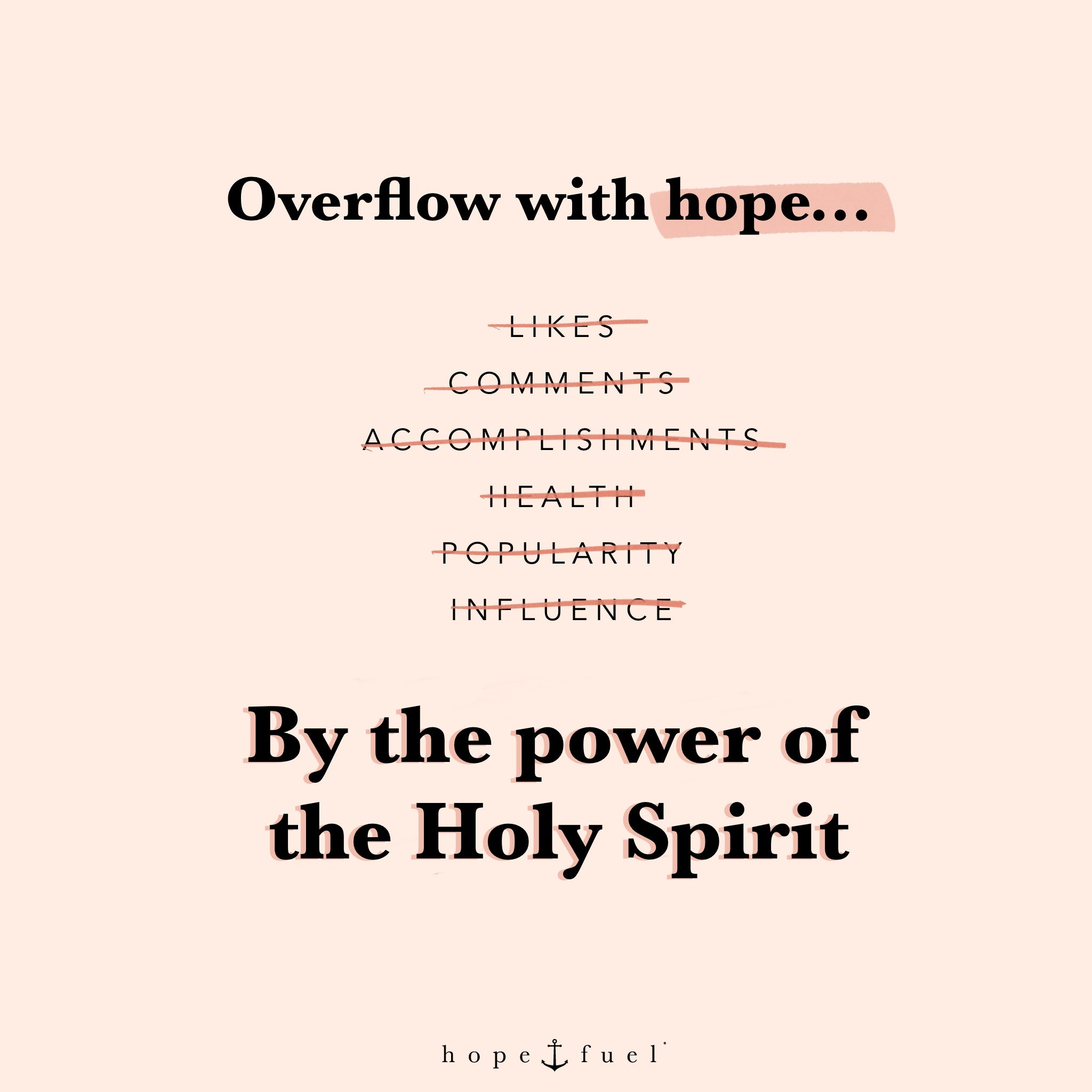 overflow with hope by the power of the holy spirit