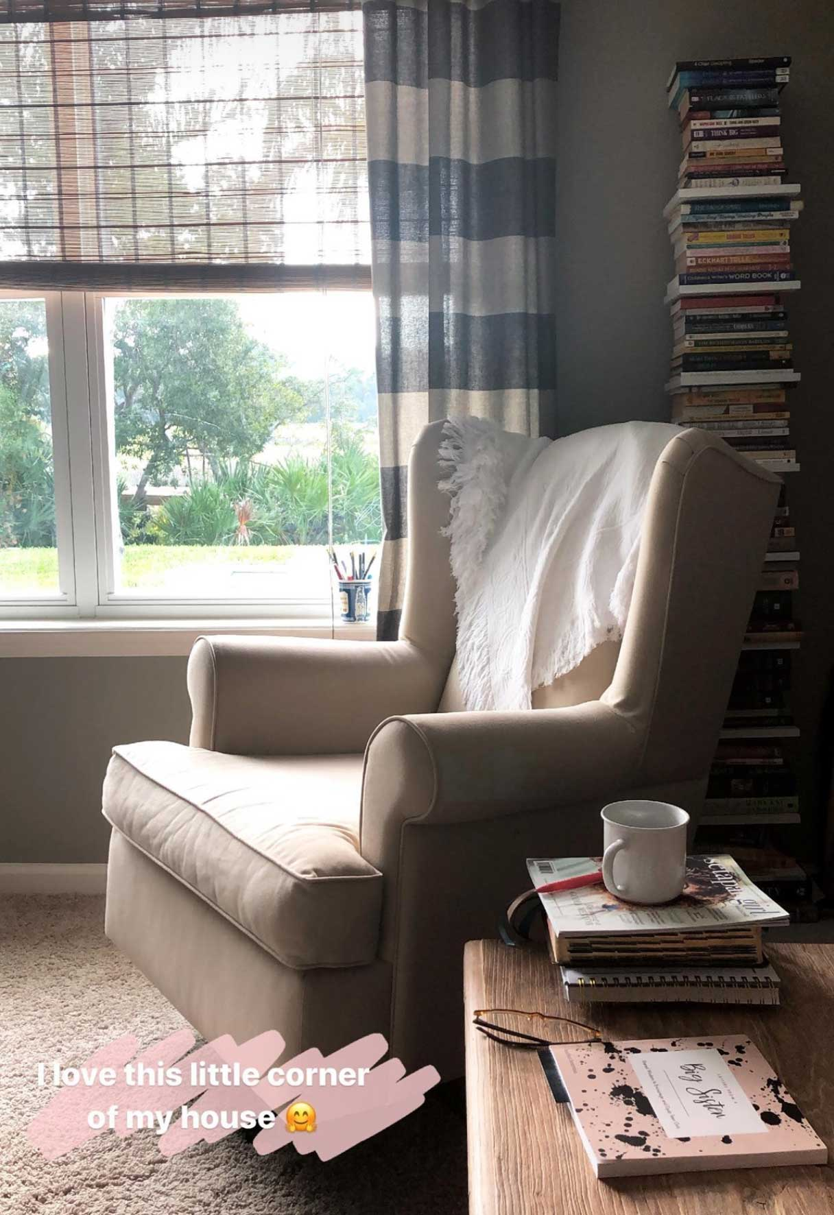 quiet time corner in a home