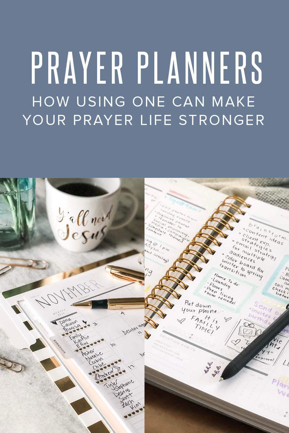 using a prayer planner to improve your prayer life