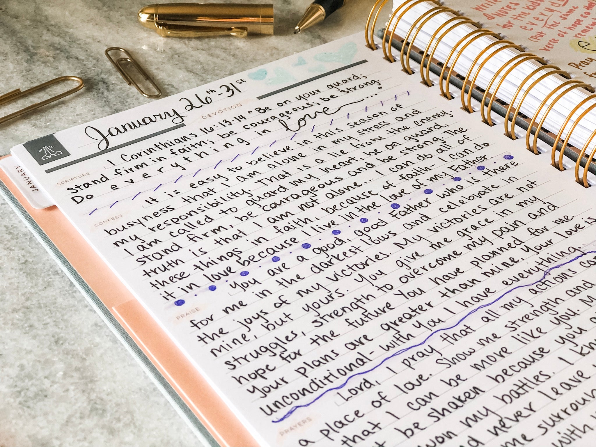 day planner and prayer journal in one