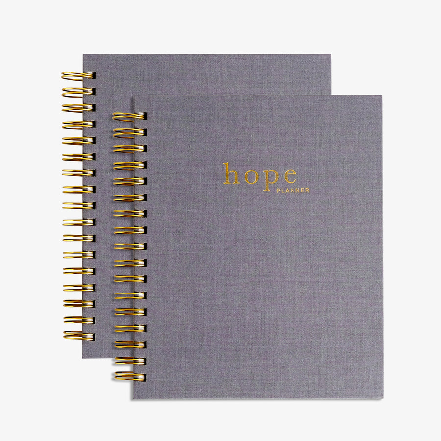 christian planner and prayer journal, hope planner gray cover