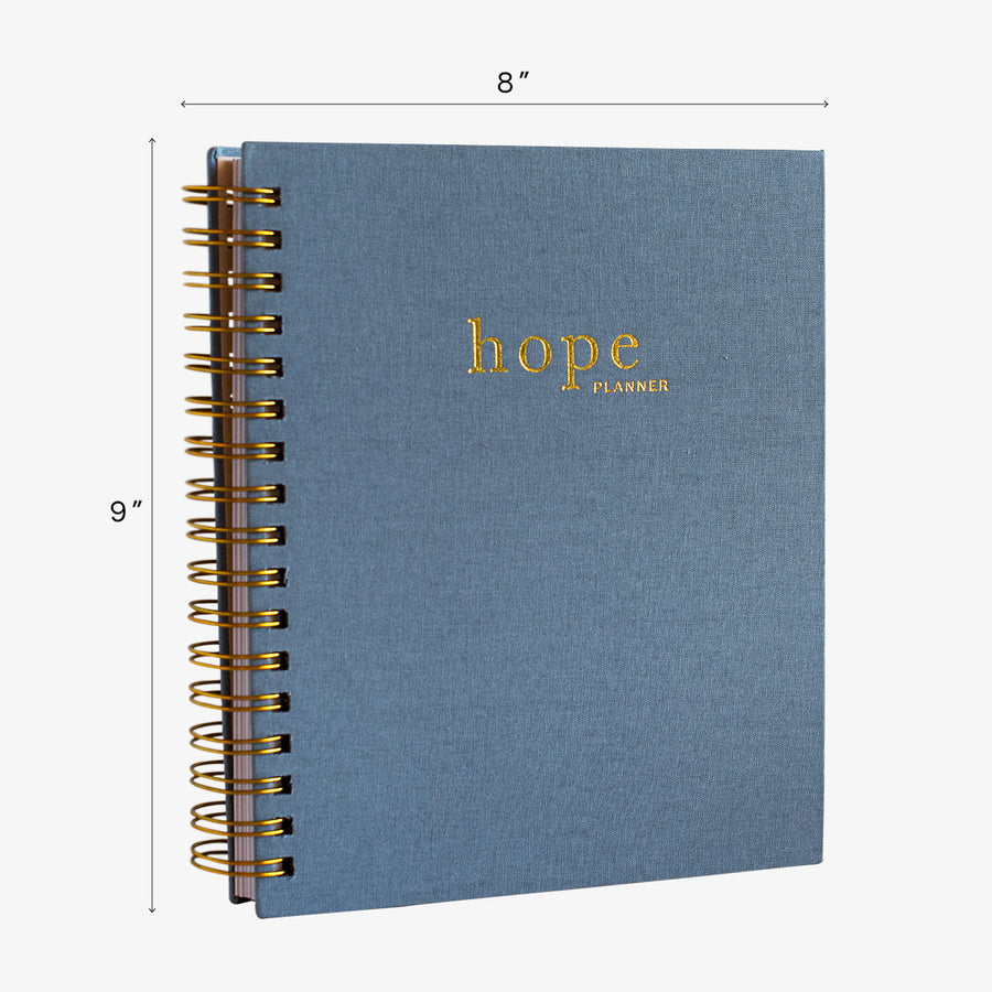 christian planner and prayer journal, the hope planner size