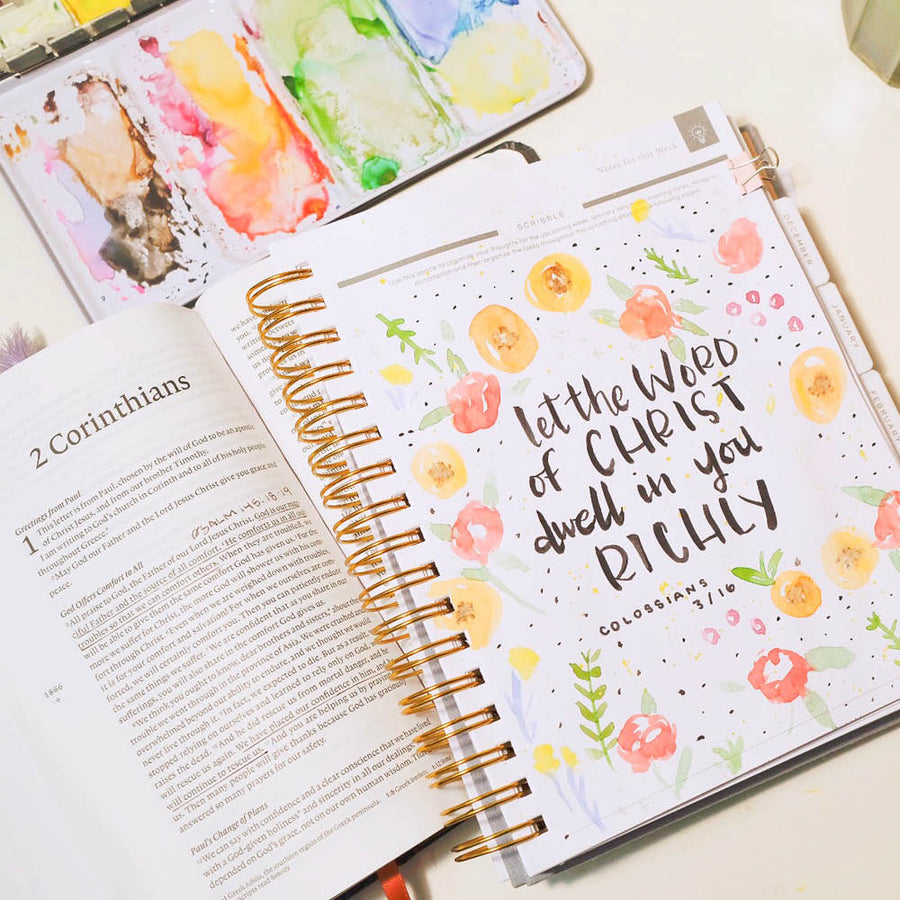 planner with sermon notes space
