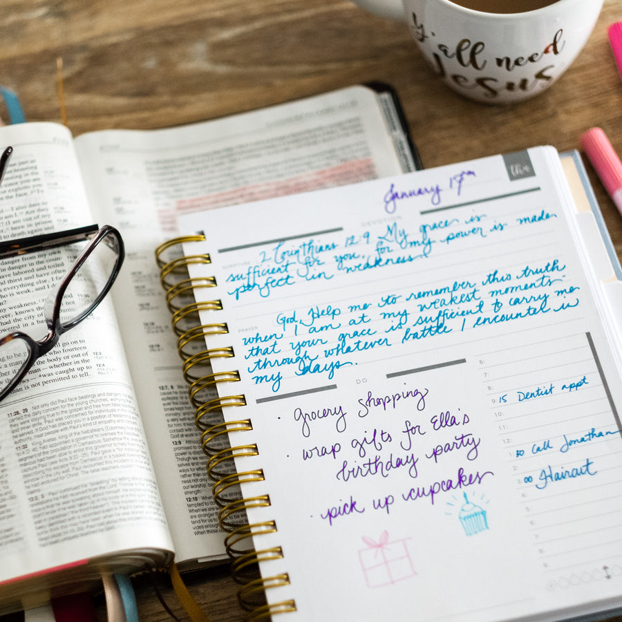 daily planner with bible verses