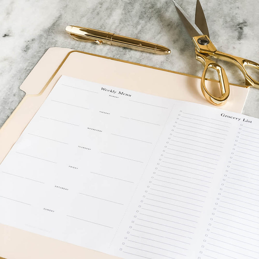 Planner Printable: Weekly Meal Plan + Grocery List