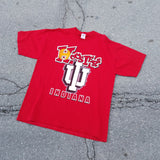 Indiana Hoosiers Shirt Size XL Jerzees Grid Tag