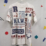 1994 Rodeo Active Wear Allover Print Shirt Size XL