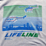 Single Stitch Life Line Helicopter Shirt Size Mens XL