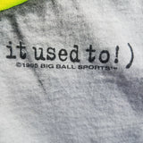 1995 Single Stitch Big Ball Sports Hit Like a Girl Shirt Size Mens XL