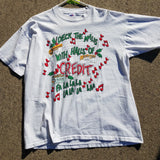 Single Stitch Christmas Shopping Shirt Size Mens XL