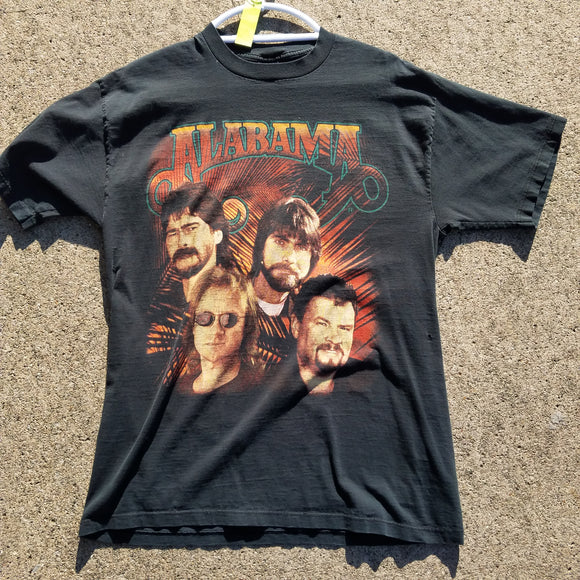 Vintage Alabama Dancin' on the Boulevard Tour Shirt Size L Jerzees Grid Tag