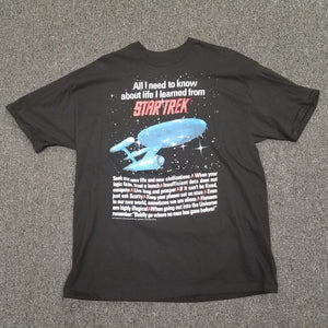 Vintage 1994 Single Stitch Star Trek Shirt All I need to know about life SIZE XL