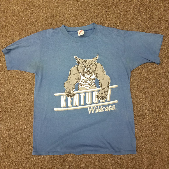 Vintage 1980s Single Stitch Jerzees Kentucky Wildcats SIZE L *Paper Thin*