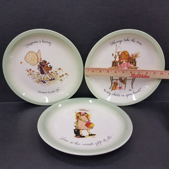 Set of 3 Holly Hobbie Collector's Plates