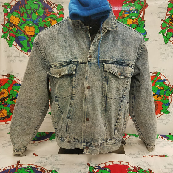 Vintage Today's News Denim Hooded Jacket SIZE L? [NO TAG]