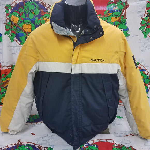 Reversible Nautica Down Puffy Coat SIZE L