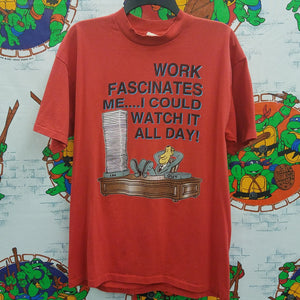 Vintage Work Fascinates Me Shirt SIZE XL
