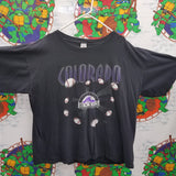 Vintage Logo 7 Colorado Rockies Shirt SIZE 2XL