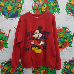 Vintage Mickey Mouse Sweatshirt SIZE XL