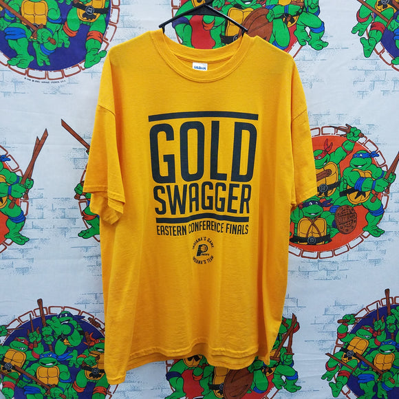 Pacers Gold Swagger Shirt SIZE XL