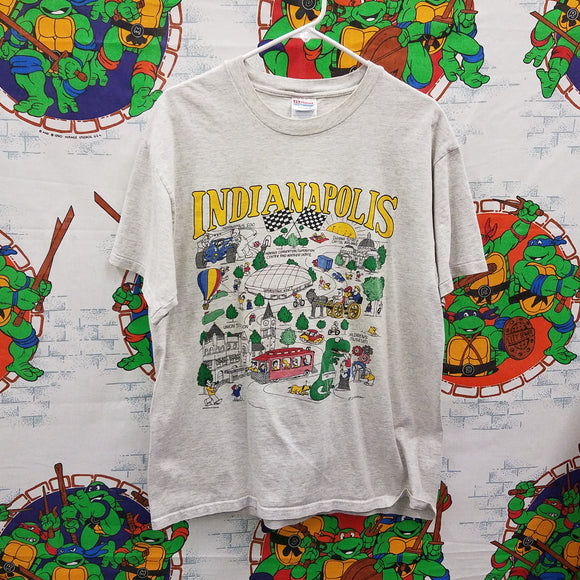 Vintage Indianapolis Cartoon Shirt SIZE L