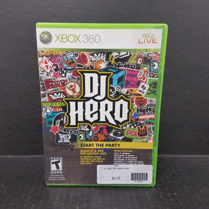 DJ Hero [GAME ONLY] Xbox 360 Game