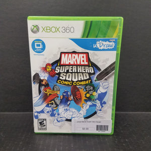 uDraw Marvel Super Hero Squad Comic Combat Xbox 360 Game