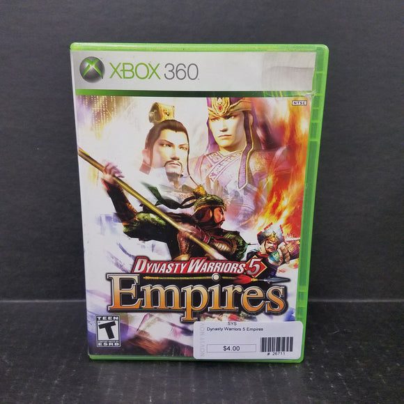 Dynasty Warriors 5 Empires Xbox 360 Game