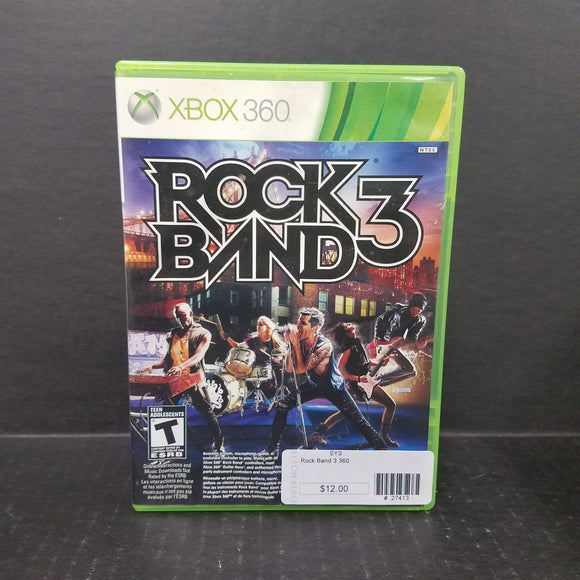 Rock Band 3 Xbox 360 Game