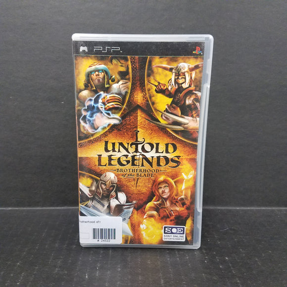 Untold Legends Brotherhood of the Blade PSP Game