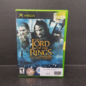 The Lord of the Rings The Two Towers Xbox Game