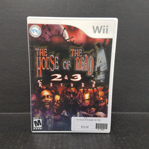 House of the Dead 2 & 3 Return Nintendo Wii Game