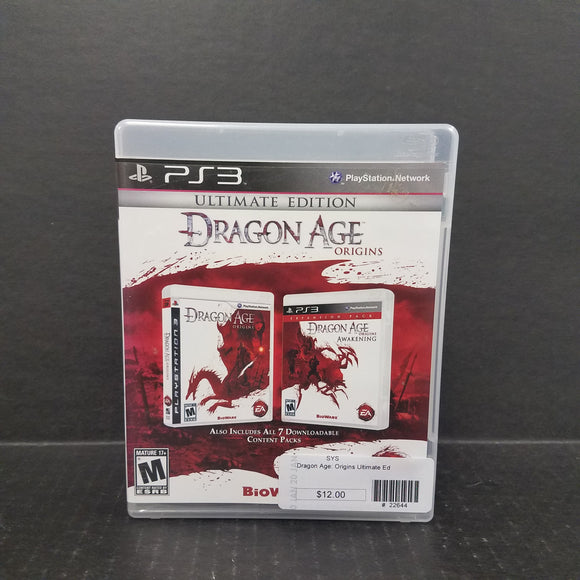 Dragon Age Origins Ultimate Edition PS3 PlayStation 3 Game
